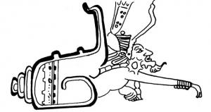 Dios naciendo de caracol Pintura maya