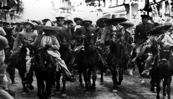 Entrada de zapatistas a la ciudad